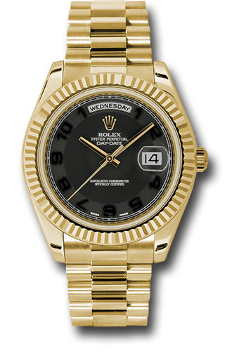 Rolex Watches Day-Date II President Yellow Gold - Fluted Bezel ...