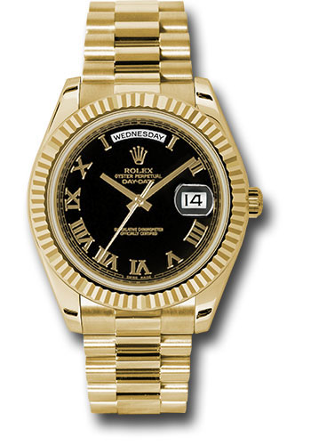 Rolex Watches - Day-Date II President Yellow Gold - Fluted Bezel - Style No: 218238 bkrp