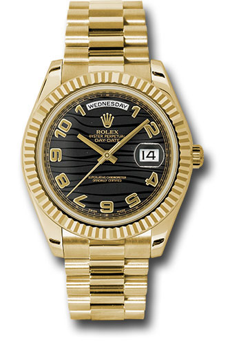Rolex Watches - Day-Date II President Yellow Gold - Fluted Bezel - Style No: 218238 bkwap