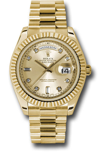 Rolex Watches - Day-Date II President Yellow Gold - Fluted Bezel - Style No: 218238 chdp