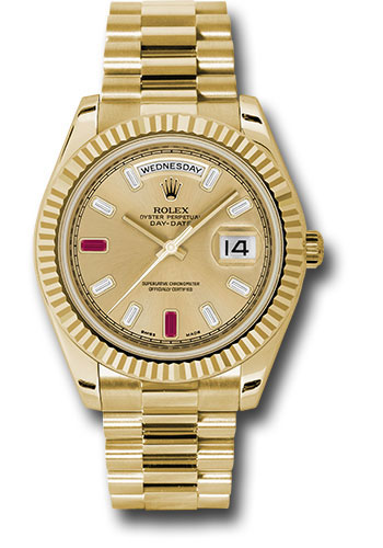 Rolex Watches - Day-Date II President Yellow Gold - Fluted Bezel - Style No: 218238 chrdp