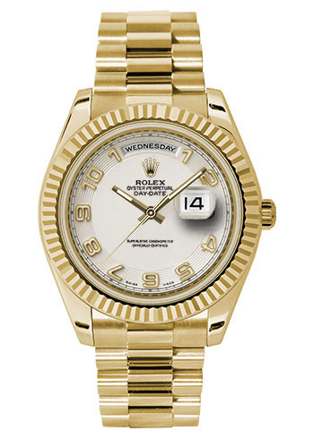 Rolex Watches - Day-Date II President Yellow Gold - Fluted Bezel - Style No: 218238 icap