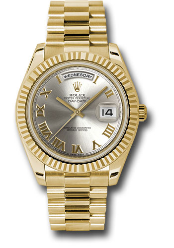 Rolex Watches - Day-Date II President Yellow Gold - Fluted Bezel - Style No: 218238 srp