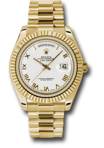 Rolex Watches - Day-Date II President Yellow Gold - Fluted Bezel - Style No: 218238 wrp