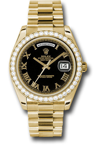 Rolex Watches - Day-Date II President Yellow Gold - Diamond Bezel - Style No: 218348 bkrp