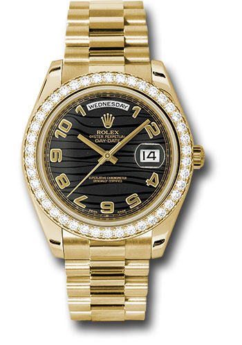Rolex Watches - Day-Date II President Yellow Gold - Diamond Bezel - Style No: 218348 bkwap
