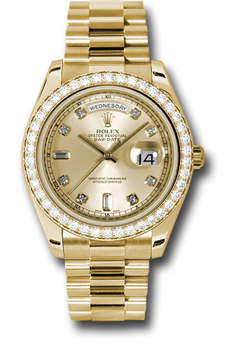 Rolex Watches - Day-Date II President Yellow Gold - Diamond Bezel - Style No: 218348 chdp