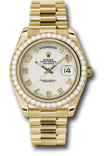 Rolex Watches - Day-Date II President Yellow Gold - Diamond Bezel - Style No: 218348 icap