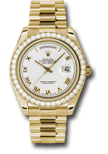 Rolex Watches - Day-Date II President Yellow Gold - Diamond Bezel - Style No: 218348 wrp