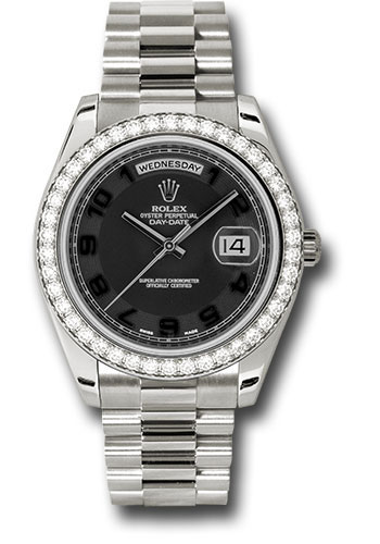 Rolex Watches - Day-Date II President White Gold - Diamond Bezel - Style No: 218349 bkcap