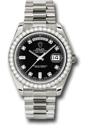 Rolex Watches - Day-Date II President White Gold - Diamond Bezel - Style No: 218349 bkdp