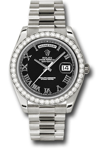 Rolex Watches - Day-Date II President White Gold - Diamond Bezel - Style No: 218349 bkrp