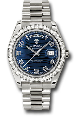 Rolex Watches - Day-Date II President White Gold - Diamond Bezel - Style No: 218349 blwap