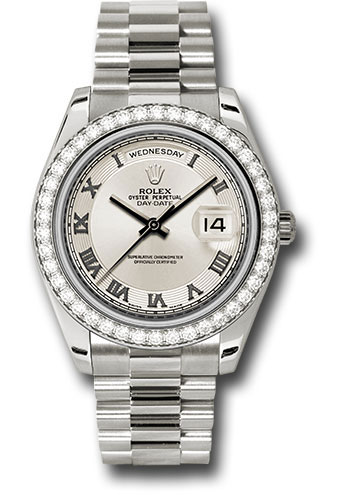 Rolex Watches - Day-Date II President White Gold - Diamond Bezel - Style No: 218349 icrp
