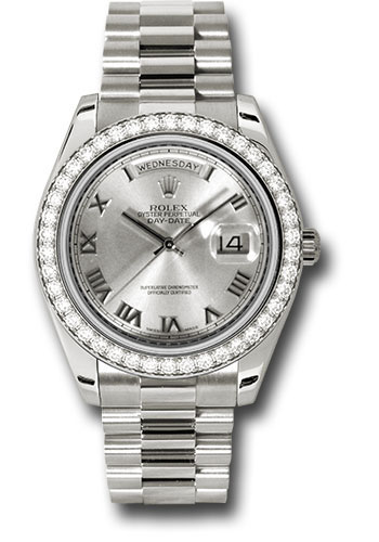 Rolex Watches - Day-Date II President White Gold - Diamond Bezel - Style No: 218349 rrp