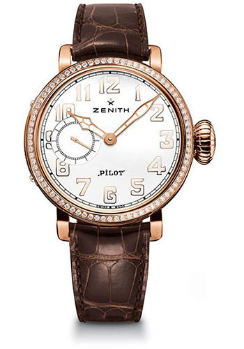 Zenith Watches - Pilot Montre D'Aeronef Type 20 Lady Rose Gold - Style No: 22.1930.681/31.C725