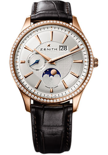 Zenith Watches - Elite Captain Moonphase Rose Gold - Style No: 22.2140.691/02.C498