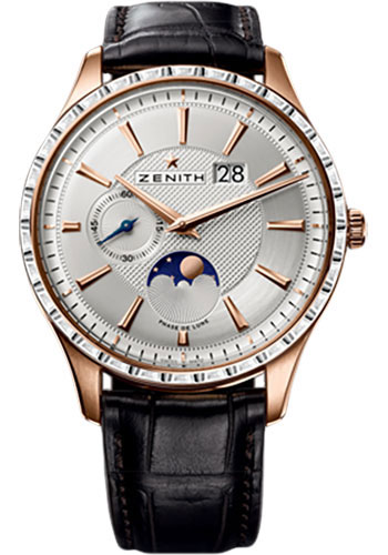 Zenith Watches - Elite Captain Moonphase Rose Gold - Style No: 22.2141.691/01.C498