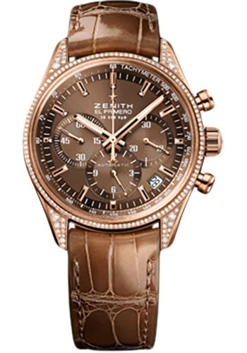 Zenith Watches - El Primero Lady 36'000 VPH - 38mm Rose Gold - Style No: 22.2150.400/75.C709