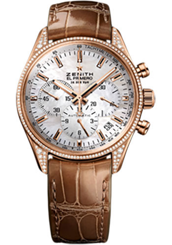 Zenith Watches - El Primero Lady 36'000 VPH - 38mm Rose Gold - Style No: 22.2150.400/82.C709