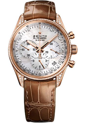 Zenith Watches - El Primero Lady 36'000 VPH - 38mm Rose Gold - Style No: 22.2151.400/81.C709