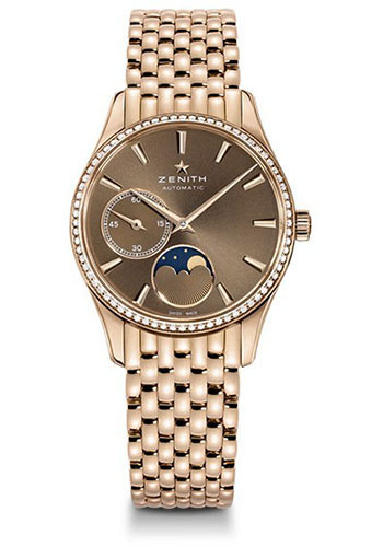 Zenith Watches - Captain Ultra Thin Lady Moonphase Rose Gold And Diamonds - Style No: 22.2310.692/75.M2310