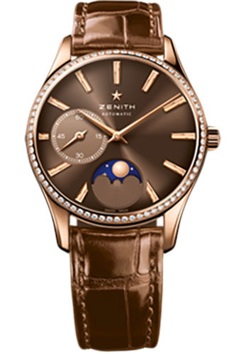Zenith Watches - Elite Lady Ultra Thin Moonphase Rose Gold - Style No: 22.2310.692/75.C709