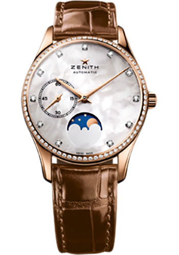 Zenith Watches - Elite Lady Ultra Thin Moonphase Rose Gold - Style No: 22.2310.692/81.C709