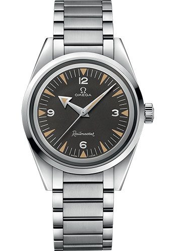 Omega Watches - Seamaster Railmaster 38 mm - Stainless Steel - Bracelet - Style No: 220.10.38.20.01.002
