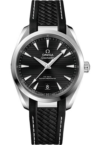 Omega Watches - Seamaster Aqua Terra 150M Master Co-Axial 38 mm - Stainless Steel - Rubber Strap - Style No: 220.12.38.20.01.001