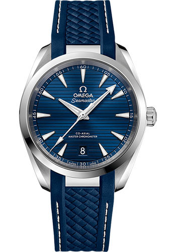 Omega Watches - Seamaster Aqua Terra 150M Master Co-Axial 38 mm - Stainless Steel - Rubber Strap - Style No: 220.12.38.20.03.001