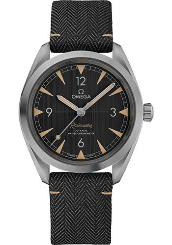 Omega Watches - Seamaster Railmaster 40 mm - Stainless Steel - Fabric Strap - Style No: 220.12.40.20.01.001