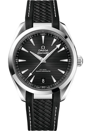 Omega Watches - Seamaster Aqua Terra 150M Master Co-Axial 41 mm - Stainless Steel - Rubber Strap - Style No: 220.12.41.21.01.001