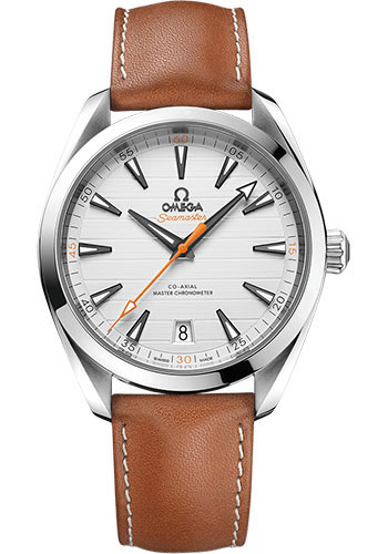 Omega Watches - Seamaster Aqua Terra 150M Master Co-Axial 41 mm - Stainless Steel - Leather Strap - Style No: 220.12.41.21.02.001
