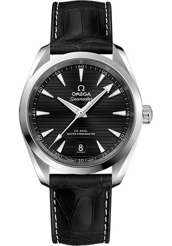 Omega Watches - Seamaster Aqua Terra 150M Master Co-Axial 38 mm - Stainless Steel - Leather Strap - Style No: 220.13.38.20.01.001