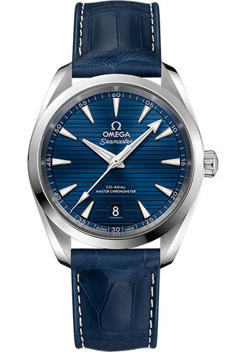 Omega Watches - Seamaster Aqua Terra 150M Master Co-Axial 38 mm - Stainless Steel - Leather Strap - Style No: 220.13.38.20.03.001