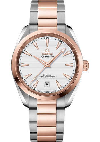 Omega Watches - Seamaster Aqua Terra 150M Master Co-Axial 38 mm - Steel and Sedna Gold - Style No: 220.20.38.20.02.001