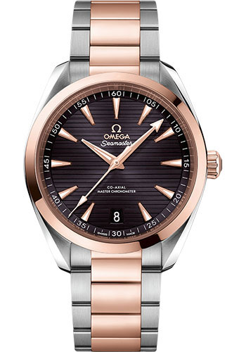 Omega Watches - Seamaster Aqua Terra 150M Master Co-Axial 41 mm - Steel and Sedna Gold - Style No: 220.20.41.21.06.001