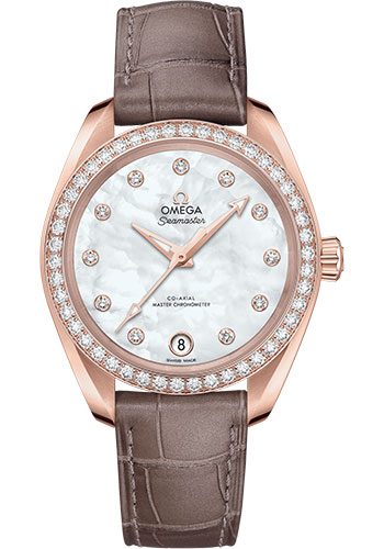 Omega Watches - Seamaster Aqua Terra 150M Co-Axial Master 34 mm - Sedna Gold - Style No: 220.58.34.20.55.001