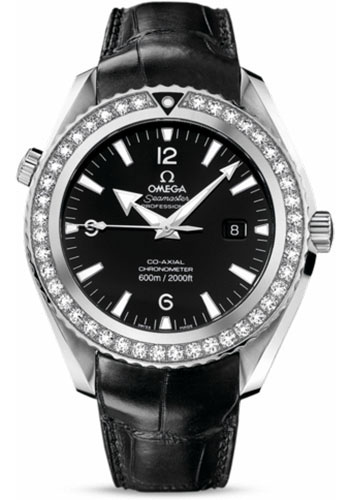 Omega Watches - Seamaster Planet Ocean 600 M Co-Axial 45.5 mm - Stainless Steel - Leather Strap - Style No: 222.18.46.20.01.001