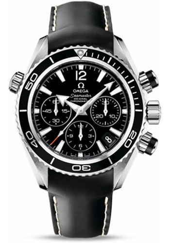 Omega Watches - Seamaster Planet Ocean 600 M Co-Axial Chronograph 37.5 mm - Stainless Steel - Leather Strap - Style No: 222.32.38.50.01.001