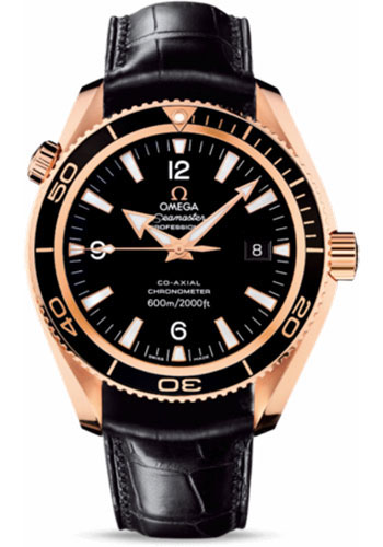 Omega Watches - Seamaster Planet Ocean 600 M Co-Axial 42 mm - Red Gold - Leather Strap - Style No: 222.63.42.20.01.001