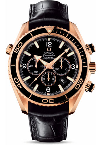 Omega Watches - Seamaster Planet Ocean 600 M Co-Axial Chronograph 45.5 mm - Red Gold - Leather Strap - Style No: 222.63.46.50.01.001