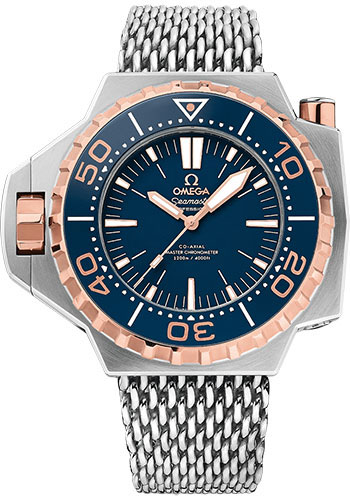Omega Watches - Seamaster Ploprof 1200M Co-Axial Master Titanium and Sedna Gold - Style No: 227.60.55.21.03.001
