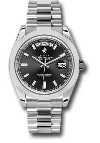 Rolex Watches - Day-Date 40 Platinum - Style No: 228206 bkbdp