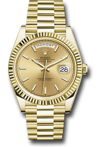 Rolex Watches - Day-Date 40 Yellow Gold - Style No: 228238 chip