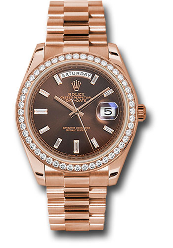 Rolex Watches - Day-Date 40 Everose Gold - Diamond Bezel - Style No: 228345RBR chobdp