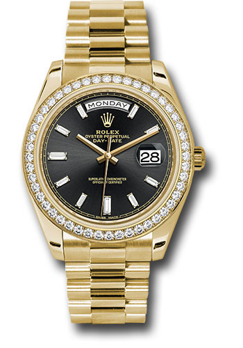 Rolex Watches - Day-Date 40 Yellow Gold - Diamond Bezel - Style No: 228348RBR bkbdp