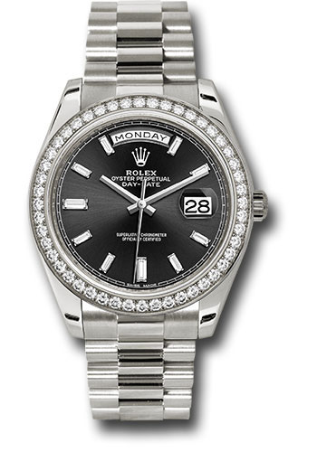 Rolex Watches - Day-Date 40 White Gold - Diamond Bezel - Style No: 228349RBR bkbdp