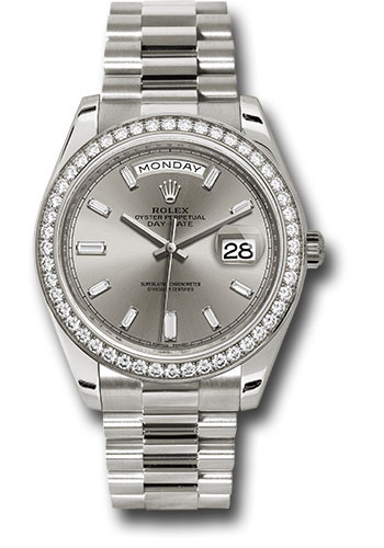 Rolex Watches - Day-Date 40 White Gold - Diamond Bezel - Style No: 228349RBR sbdp